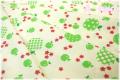 キャンディーアップル 生成り×グリーン AT826251-D (約110cm幅×50cm)