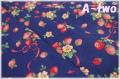 ストロベリーブーケ ネイビーブルー AT826387-C (約110cm幅×50cm)