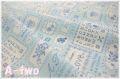 クロスステッチ・サンプラー ブルー AT826536-C (約110cm幅×50cm)