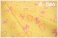 ハート&リボン イエロー AT826601-E (約110cm幅×50cm)