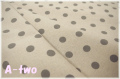 薄手綿麻 ドット グレー (約110cm幅×50cm)