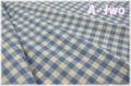 KEI FABRIC チェック 生成り×ブルー KF6034-F (約110cm幅×50cm)