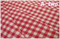 KEI FABRIC チェック 生成り×レッド KF6034-G (約110cm幅×50cm)
