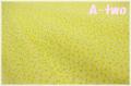 KEI FABRIC ミニミニフラワー イエロー KF6043-E (約110cm幅×50cm)