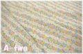 【少々難あり50%OFF】 YUWA ローン フラワーストライプ ブルー (約110cm幅×50cm) 【ポイント還元対象外】