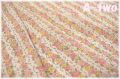 【少々難あり50%OFF】 YUWA ローン フラワーストライプ ピンク (約110cm幅×50cm) 【ポイント還元対象外】