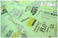 YUWA ロゴ エメラルド SZ822009-C (約110cm幅×50cm)