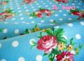 ドットオンブーケ ブルー(約110cm巾×約50cm)