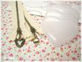ハート型マカロン レシピ&パーツ2個セット アンティーク