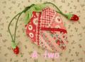 いちごの巾着mini