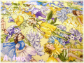 FLOWER FAIRIES SUNKIST DC6434 イエロー (約110cm幅×50cm)