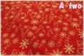 RJR Fabrics Holiday Dreams クリスマスロゴ レッド 1571-2 (約110cm幅×50cm)
