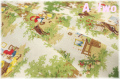 WINDHAM FABRICS LITTLE RED RIDING HOOD 森 生成り 50297-X (約110cm幅×50cm)