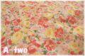 【少々難あり50%OFF】 YUWA ローン フローラル オレンジ (約110cm幅×50cm) 【ポイント還元対象外】