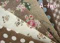 YUWA綿麻スラブミニカット6枚セット ブラウン(一枚の大きさ約25×26cm)