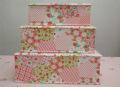 松山敦子 オリジナルカルトナージュ 3個セット フルーツキャンディ ピンク
