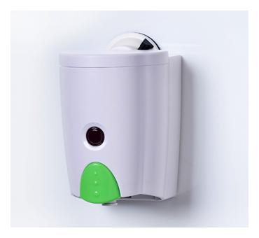 スペースマジック・液体ソープディスペンサー (ホワイトxグリーン)