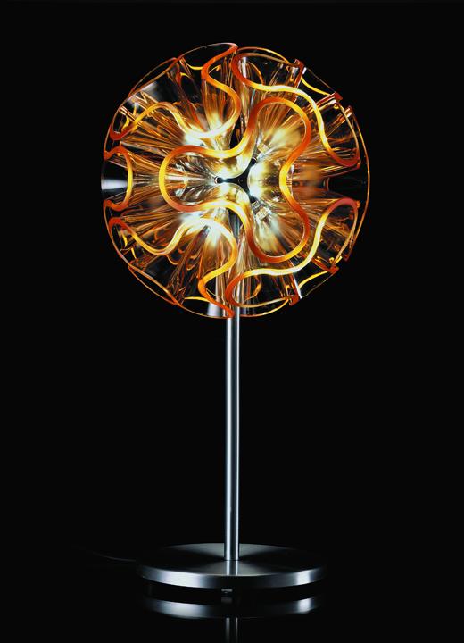コーラル・ボール型 ペンダントライト 〈オレンジ〉