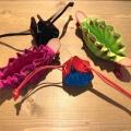 インテリアとしても可愛い革小物 プレゼントにおすすめ!2色使いの巾着小銭入れ