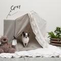 Louisdog(ルイスドッグ)犬用ベッド Peekaboo/Linen Secret Grey Petit ピーカブ リネン シークレット グレー