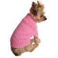 Doggie Design(ドギーデザイン)ドッグウェア コムド コットン ケーブル ニット セーター キャンディー ピンク