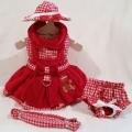 Platinum Puppy Couture(プラチナ パピー クチュール)Gingerbread Girl Dog Harness ジンジャーブレッド ガール ハーネス ドレス