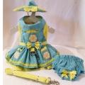 Platinum Puppy Couture(プラチナ パピー クチュール)Crazy Daisy Harness Dog Dress クレイジー デイジー ハーネス ドレス セット