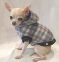 Platinum Puppy Couture(プラチナ パピー クチュール)Snuggle Flannel Studded Dog Coat スナッグル フランネル スタッド コート