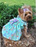 Doggie Design(ドギーデザイン)Mint Green Flower Garden Dress ミント フラワー ガーデン ドレス セット