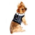 Doggie Design(ドギーデザイン)Navy Blue Tweed Minky Plush Harness ネイビー ブルー ツイード ミンキー ハーネス ベスト