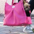 Doggie Design(ドギーデザイン)Pink Yarrow Mia Michele Dog Carry Bag ピンク ヤロー フェイク ペブル レザー キャリーバッグ