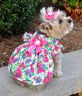 Doggie Design(ドギーデザイン)Fuchsia Flower Garden Dress フクシア フラワー ガーデン ドレス セット