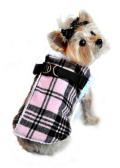 Doggie Design(ドギーデザイン)Pink Plaid Step In Wrap Coat ピンク プレイド ラップ コート