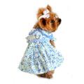 Doggie Design(ドギーデザイン)Blue Belle Floral Gingham Dog Dress ブルーベル フローラル ギンガム ドレス