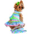 Doggie Design(ドギーデザイン)Mulit-Colored Wave Designer Dog Dress マルチカラー ウェーブ デザイナー ドレス