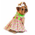 Doggie Design(ドギーデザイン)Lady Bug Plaid Dog Dress レディーバグ プレイド ドレス