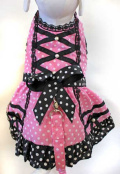 Cha-Cha Couture(チャチャクチュール)Polka Pink Harness Dress ポルカ ピンク ハーネス ドレス