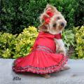 Doggie Design(ドギーデザイン)Red Tartan Plaid Holiday Dog Dress レッド タータン プレイド ホリディ ドレス セット