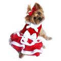 Doggie Design(ドギーデザイン)White Christmas Santa Girl Dress ホワイト クリスマス サンタ ガール ドレス