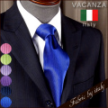 VACANZA italy ソリッドシルクネクタイ