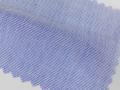 ブルー(明るめの青)/刷毛目調 - コットン50%/ポリエステル50% - シャツ生地 - 国内縫製