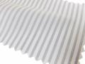 ホワイト(白)/ストライプ系/2mm幅 グレーのストライプ/-コットン50%/ポリエステル50% - シャツ生地 - 国内縫製