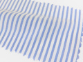 ホワイト(白)/ストライプ系/2mm間隔のストライプ/-コットン50%/ポリエステル50% - シャツ生地 - 国内縫製