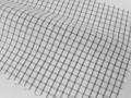 ホワイト(白)/2mmX2mmのギンガムチェック/-コットン50%/ポリエステル50% - シャツ生地 - 国内縫製