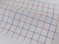 ホワイト(白)/7mmX6mmのタッタソールチェック/-コットン50%/ポリエステル50% - シャツ生地 - 国内縫製