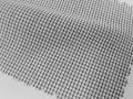 ホワイト(白)/グレーのグラフチェック/-コットン60%/ポリエステル40% - シャツ生地 - 国内縫製