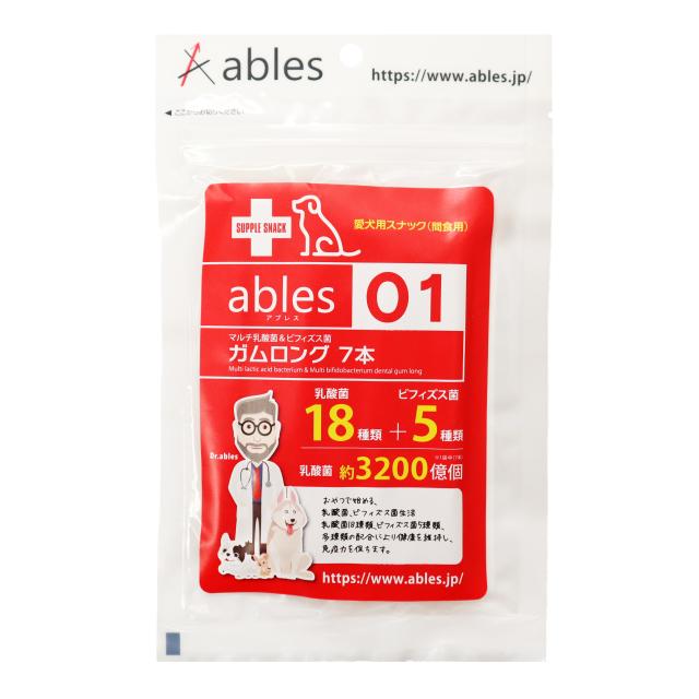 ables 01 マルチ乳酸菌&ビィフィズス菌ガム ロング7本