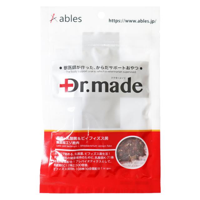 Dr.made 鹿肉+乳酸菌&ビィフィズス菌 無添加エゾ鹿肉 30g
