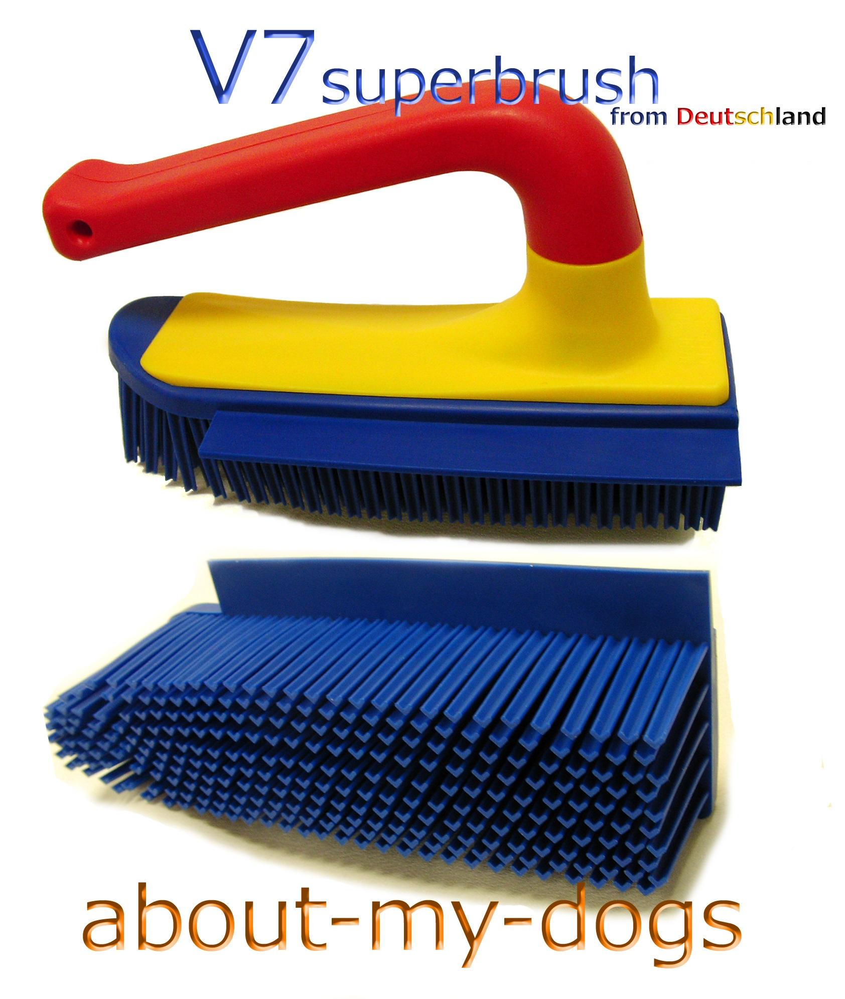 V7スーパーブラシハンディ 愛犬の毛の掃除に欠かせません!