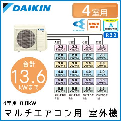 4M80RAV ダイキン マルチ用室外機 【4室用 計13.6kWまで】